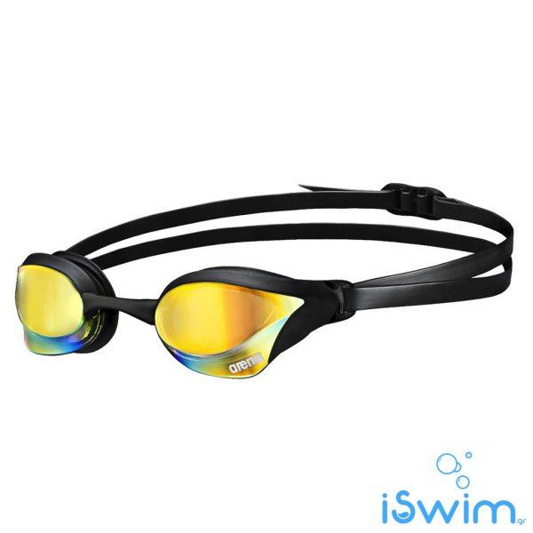 Αγωνιστικά γυαλάκια κολύμβησης, Arena Cobra Core Mirror Yellow Revo Black