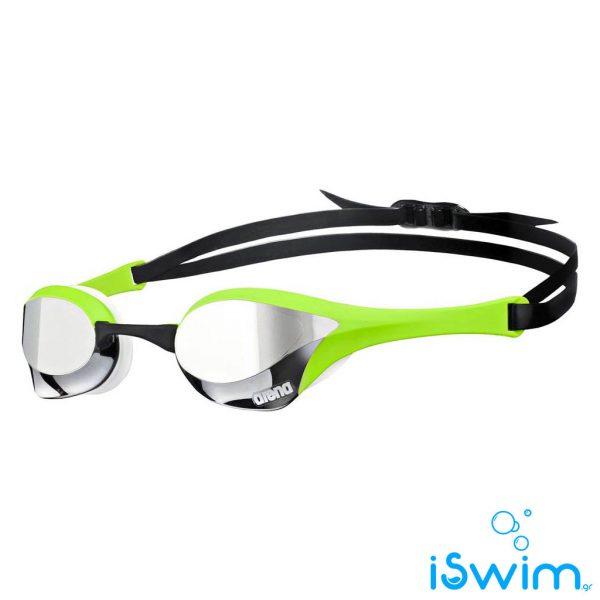 Αγωνιστικά γυαλάκια κολύμβησης, Arena Αγωνιστικά γυαλάκια κολύμβησης Cobra Ultra Mirror Black Fluo Green