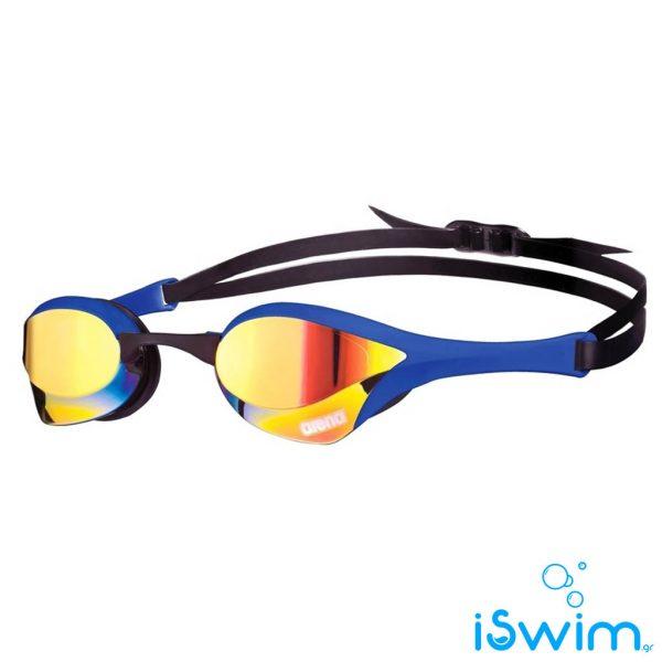 Αγωνιστικά γυαλάκια κολύμβησης, Arena Cobra Ultra Mirror Blue Yellow