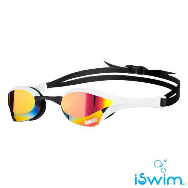 Αγωνιστικά γυαλάκια κολύμβησης, Arena Cobra Ultra Mirror White Black Yellow