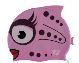 Κολυμβητικό σκουφάκι από πολυεστέρα, ARENA 91915-091-AWT PINK FISH BEBE CAP