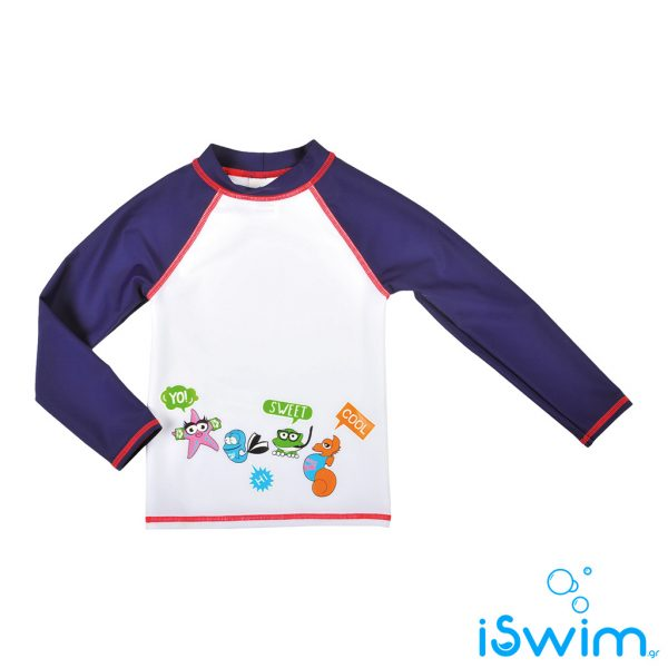 UV προστασία, ARENA AWT KIDS BOY NAVY BLUE WHITE UV