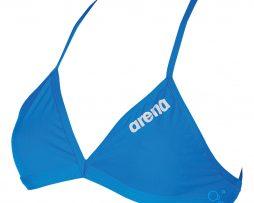 Μπικίνι πάνω μέρος υψηλής αντοχής στο χλώριο, ARENA BLUE SOLID TIE BACK TOP 01