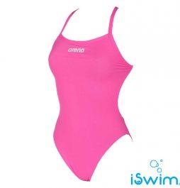Γυναικείο μαγιό πισίνας αντοχής στο χλώριο, ARENA FUCSHIA 2A243-091-W SOLID LIGHT TECH HIGH-001-FL-S