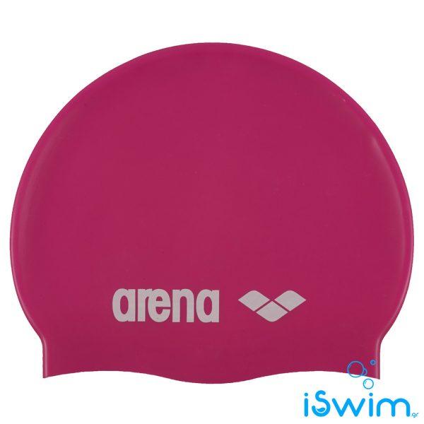 Κολυμβητικό σκουφάκι από πολυεστέρα, ARENA JUNIOR SILICONE CAP PINK