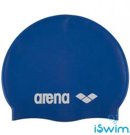 Κολυμβητικό σκουφάκι από πολυεστέρα, ARENA JUNIOR-SILICONE CAP ROYAL BLUE