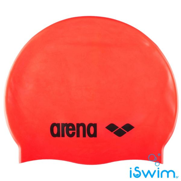 Κολυμβητικό σκουφάκι σιλικόνης, Arena Classic Silicon Cap Orangered