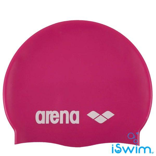 Κολυμβητικό σκουφάκι σιλικόνης, Arena Classic Silicon Cap Violet Red