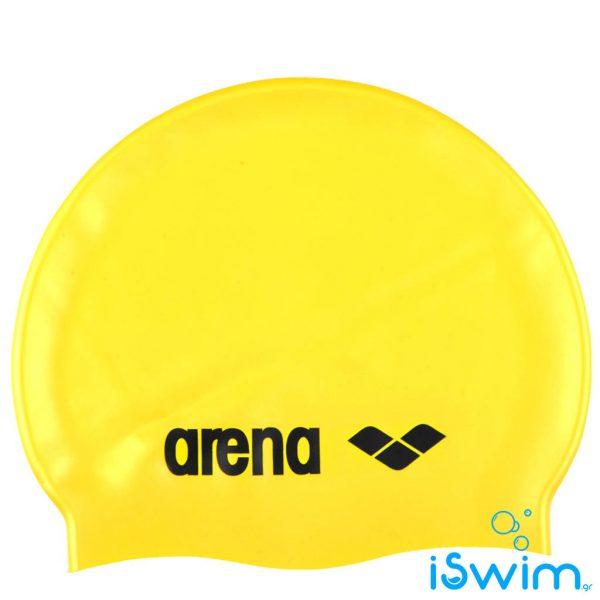 Κολυμβητικό σκουφάκι σιλικόνης, Arena Classic Silicon Cap Yellow