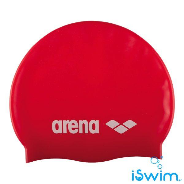 Κολυμβητικό σκουφάκι σιλικόνης, Arena Classic Silicone Cap Red