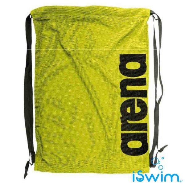Δυχτάκι μεταφοράς κολυμβητικών αξεσουάρ, Arena Fast Mesh Fluo Yellow Black