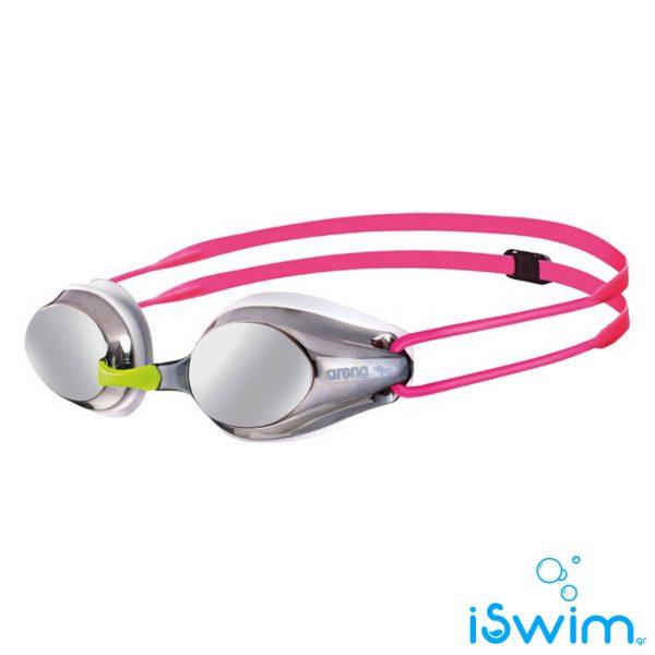 Παιδικά κολυμβητικά γυαλάκια, Arena Tracks Jr Mirror Silver White Fuchsia