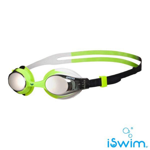 Παιδικά κολυμβητικά γυαλάκια, Arena X-Lite Kids Mirror Black Silver Green