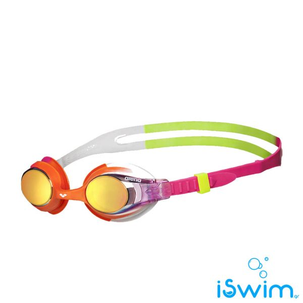 Παιδικά κολυμβητικά γυαλάκια, Arena X-Lite Kids Mirror Fuchsia Pink Orange