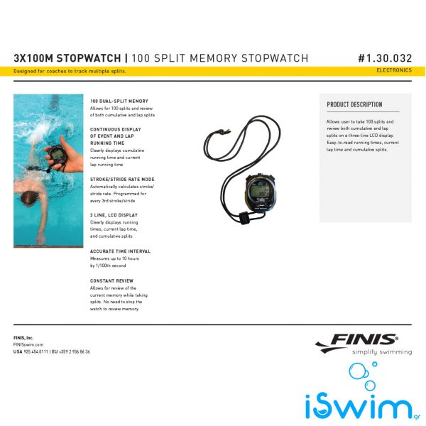 FINIS STOPWATCH 3X100M
