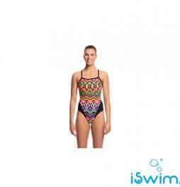 Γυναικείο μαγιό πισίνας υψηλής αντοχής στο χλώριο, FUNKITA LADIES SINGLE STRAP ONE PIECE GO SAFARI C