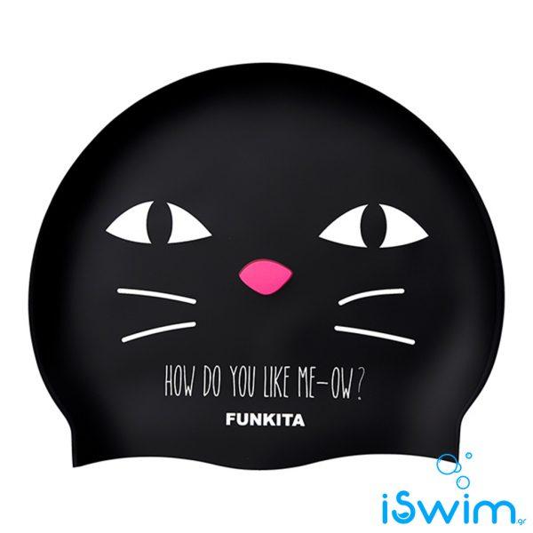 Κολυμβητικό σκουφάκι σιλικόνης, Funkita Silicone Cap meow
