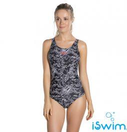 Γυναικείο μαγιό πισίνας αντοχής στο χλώριο, SPEEDO BOOM ALLOVER MUSCLEBACK 1 PIECE 810818B351A