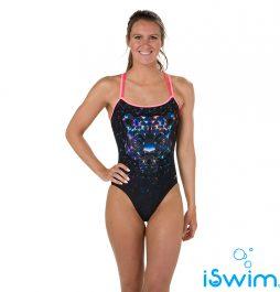Γυναικείο μαγιό πισίνας αντοχής στο χλώριο, SPEEDO DIAMONDIZE DOUBLE CROSSBACK 810626C536