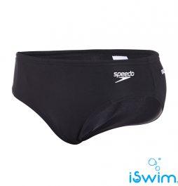 Αντρικο μαγιό κολύμβησης υψηλής αντοχής στο χλώριο, SPEEDO BOOM SPLICE 7CM BRIEF WHITE LOGO