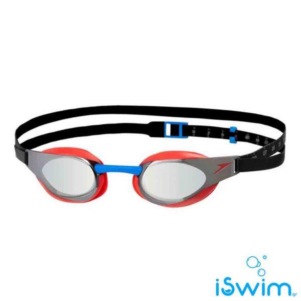 Αγωνιστικά γυαλάκια κολύμβησης, SPEEDO FASTSKIN 3 ELITE MIRROR LAVA RED SILVER