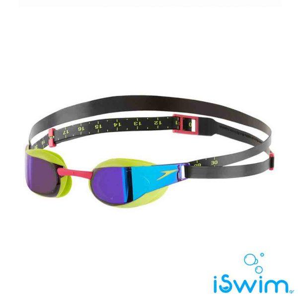 Αγωνιστικά γυαλάκια κολύμβησης, FASTSKIN ELITE MIRROR LIME VIOLET