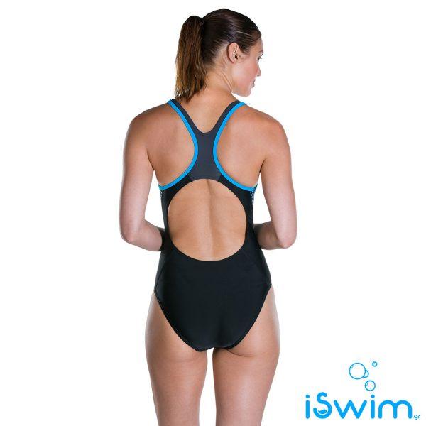 Γυναικείο μαγιό πισίνας αντοχής στο χλώριο, SPEEDO FIT LANEBACK 1 PIECE 811389C648A