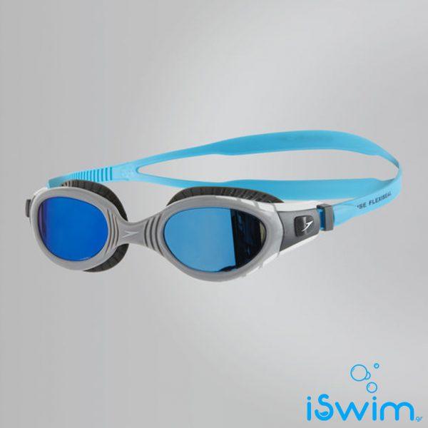 Κολυμβητικά γυαλάκια, SPEEDO FUTURA BIOFUSE FLEXISEAL MIRROR BLUE GREY