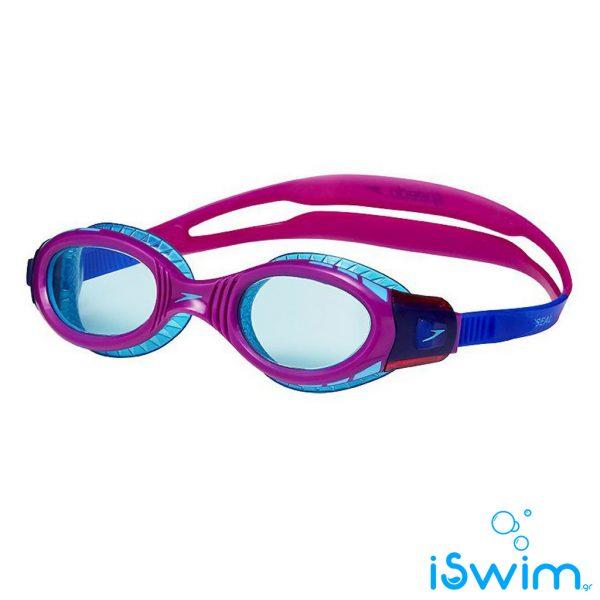 Παιδικά κολυμβητικά γυαλάκια, SPEEDO FUTURA BIOFUSE FLEXISEAL MIRROR JUNIOR PURLPE CLEAR BLUE