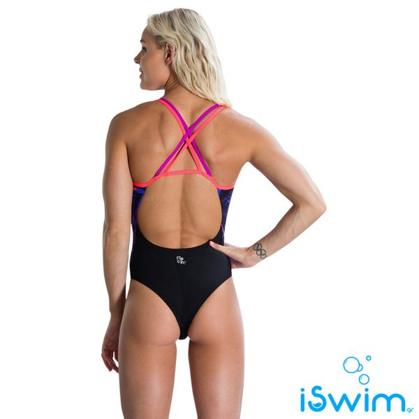 Γυναικείο μαγιό πισίνας αντοχής στο χλώριο, SPEEDO PSYCHEDELIC FUSION DOUBLE CROSSBACK 10626C243
