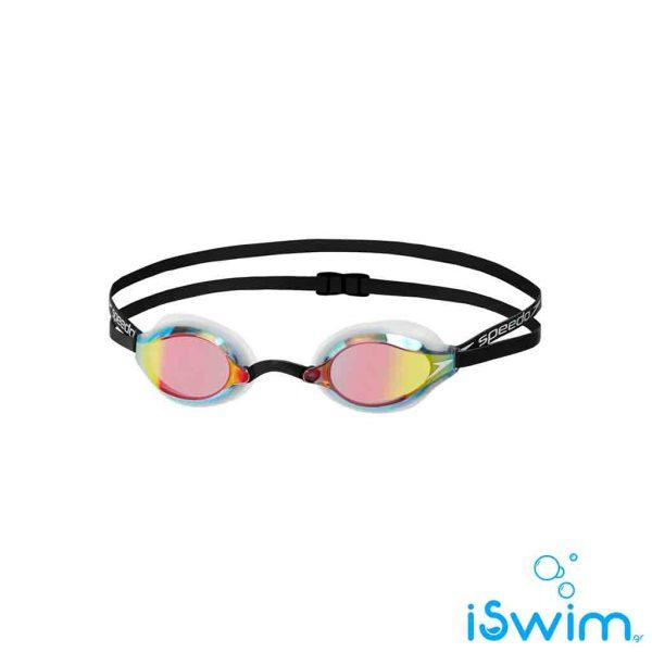 Αγωνιστικά γυαλάκια κολύμβησης, SPEEDO SPEEDSOCKED MIRROR 2 BLACK WHITE