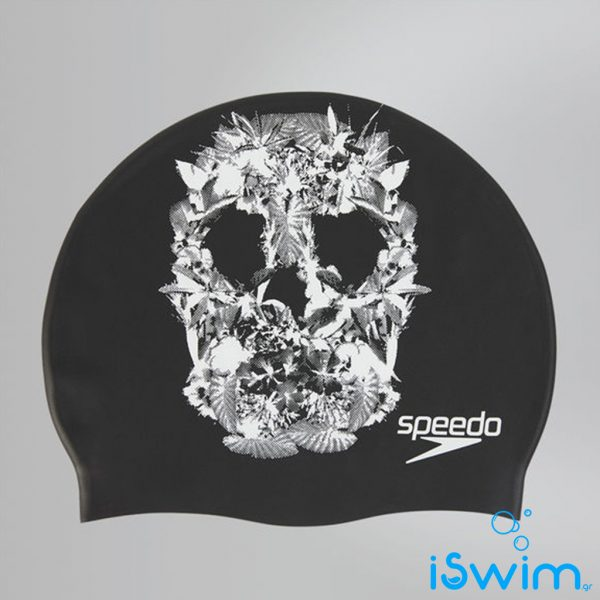 Κολυμβητικό σκουφάκι σιλικόνης, Speedo Slogan Print Cap