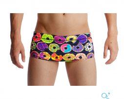 Αγορίστικο μαγιό κολύμβησης αντοχής στο χλώριο, FUNKY TRUNKS BOY PRINTED TRUNK dunking-donuts