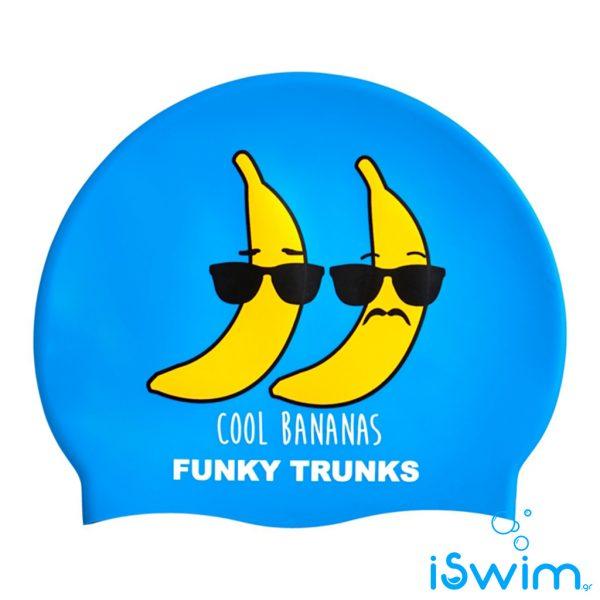 Κολυμβητικό σκουφάκι σιλικόνης, FUNKY TRUNKS SILICONE SWIM CAP cool-bananas