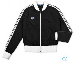ARENA WOMAN IV TEAM JACKET ESSENCE BLACK WHITE