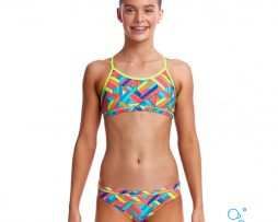 Κοριτσίστικο μπικίνι, FUNKITA GIRL RACERBACK TWO PIECE panel-pop