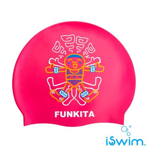 Κολυμβητικό σκουφάκι σιλικόνης, FUNKITA SILICONE SWIM CAPS cookie-cutter