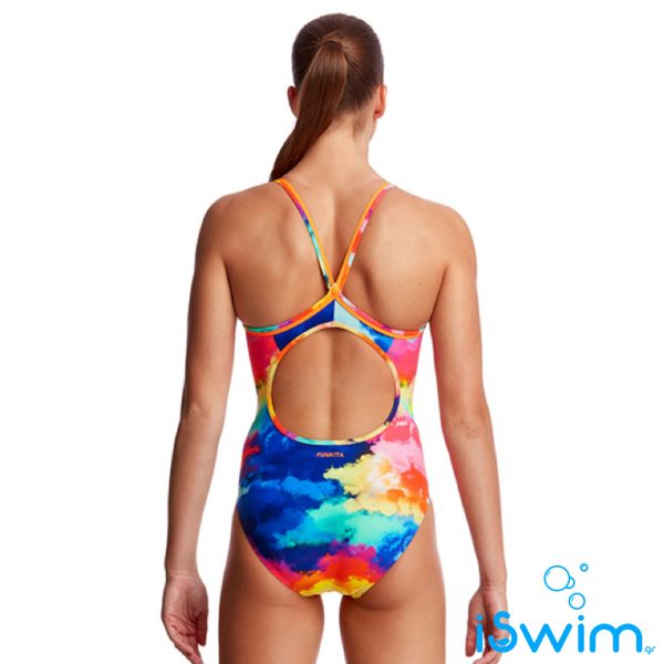 Γυναικείο μαγιό πισίνας υψηλής αντοχής στο χλώριο, FUNKITA WOMAN DIAMOND BACK cumulus