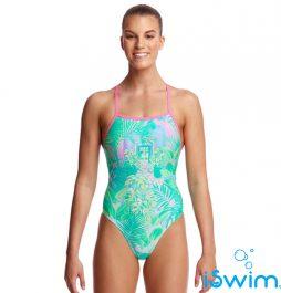 Γυναικείο μαγιό πισίνας υψηλής αντοχής στο χλώριο, FUNKITA WOMAN TIE ME TIGHT ONE PIECE ocean-view