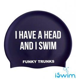 Κολυμβητικό σκουφάκι σιλικόνης, FUNKY TRUNKS SILICONE SWIM CAP get-a-head
