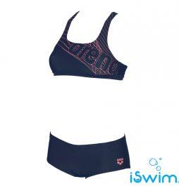 Γυναικείο μαγιό πισίνας αντοχής στο χλώριο κατάλληλο και για beach volley, ARENA 001973-791-W ALTAIR TWO PIECES-001-FL-S
