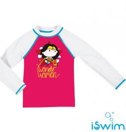 UV προστασία, ARENA 002081-911-WONDER WOMAN KIDS GIRL UV LS TEE-005-F-S
