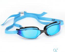Αγωνιστικά γυαλάκια κολύμβησης, MP GOGGLES XCEED - TITANIUM MIRROR BLUE.BLACK
