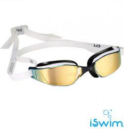 Αγωνιστικά γυαλάκια κολύμβησης, MP GOGGLES XCEED - TITANIUM MIRROR GOLD EDITION
