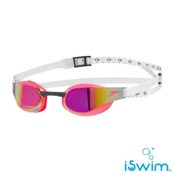 Αγωνιστικά γυαλάκια κολύμβησης, SPEEDO FASTSKIN ELITE MIRROR WHITE.RED 08210C908