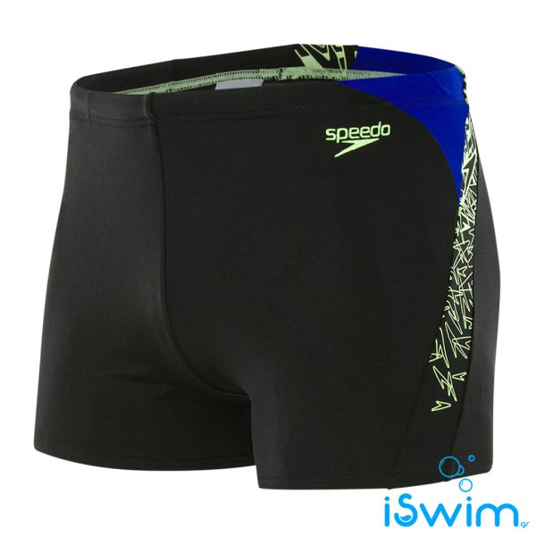 Αντρικο μαγιό κολύμβησης αντοχής στο χλώριο, SPEEDO MAN SHORT BLACK.BLUE.GREEN 10855C713