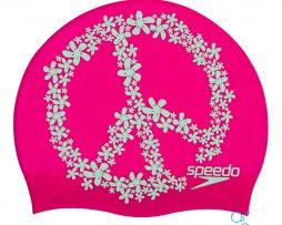 Κολυμβητικό σκουφάκι από σιλικόνη, SPEEDO SLOGAN PRINT SILICONE CAP 08385C899