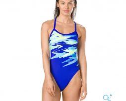 Γυναικείο μαγιό πισίνας αντοχής στο χλώριο, SPEEDO WOMAN BOOM PLACEMENT THINSTRAP 11691C773A