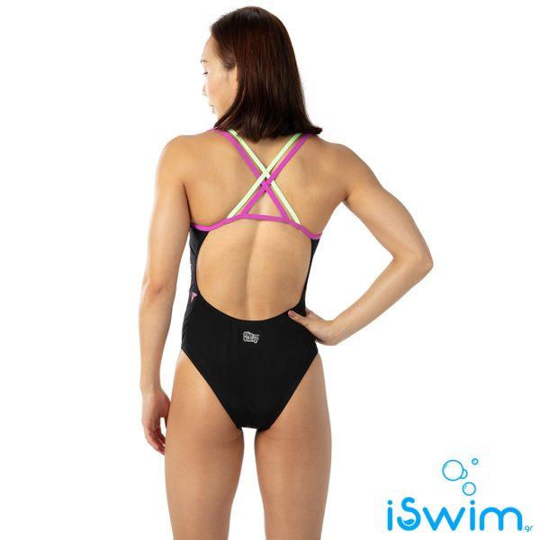 Γυναικείο μαγιό πισίνας αντοχής στο χλώριο, SPEEDO WOMAN HIPPY CHICK DREAMS PLACEMENT DOUBLE THINSTRAP 10626C804A